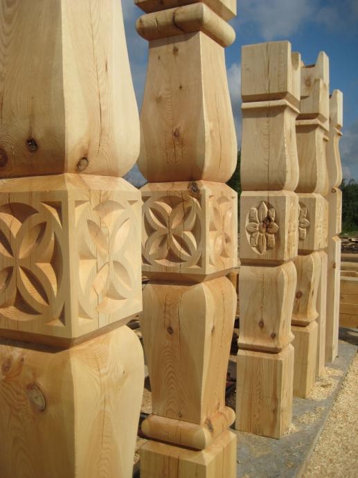 Как сделать резные столбы из дерева