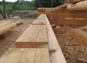 Saw cut for rafter board