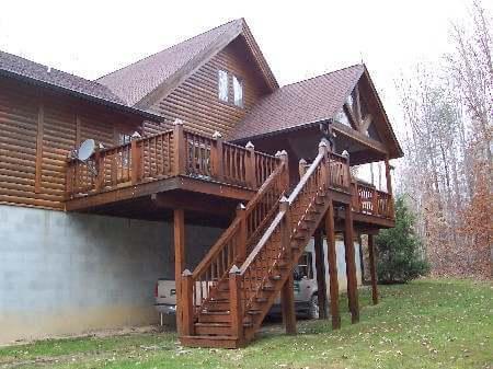 наружная деревянная лестница