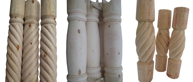 Варианты столбов для деревянного дома
