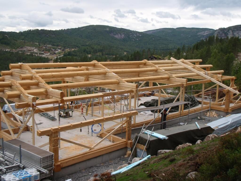 North House - Frame house mounting in Norway